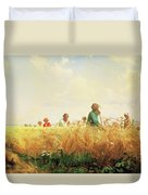 Wheat Field In The Summer Duvet Cover
