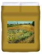 Wheat Field With Alpilles Foothills In The Background At Wheat Fields Van Gogh Series, By Vincent  Duvet Cover