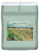 Wheat Field With Cornflowers At Wheat Fields Van Gogh Series, By Vincent Van Gogh Duvet Cover