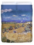 Wheat Fields With Reaper, Auvers Duvet Cover