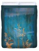Wheat On Blue 1 Duvet Cover