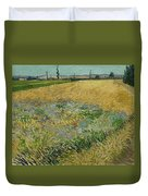 Wheatfield Arles, June 1888 Vincent Van Gogh 1853 - 1890 Duvet Cover