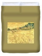 Wheatfield With Reaper And Sun Duvet Cover