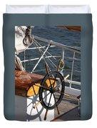 Sailingship Wheel Duvet Cover