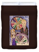 Wheel Of Fortune Pat Sajak And Vanna White Duvet Cover