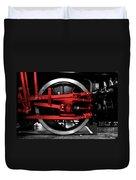 Wheel Of Red Steel Duvet Cover