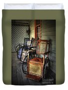Wheelchairs Of Yesteryear By Kaye Menner Duvet Cover