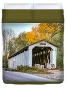 Wheeling Covered Bridge Duvet Cover