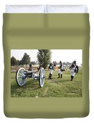 Wheeling The Cannon At Fort Mchenry In Baltimore Maryland Duvet Cover