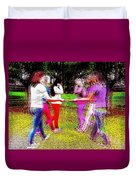 When Alternate Realities Collide Duvet Cover