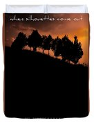 When Silhouettes Come Out Coffee Table Book Cover Duvet Cover