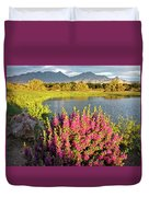 When The Rains Come In The Desert So Do The Blooms Duvet Cover