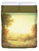 When The Sun In Splendor Fades Duvet Cover by John MacWhirter