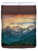 When The Sun Says Good Bye To The Mountains  Duvet Cover