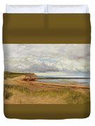 When The Tide Is Low  Maer Rocks, Exmouth, Duvet Cover