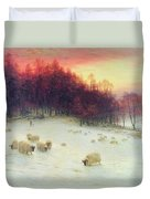 When The West With Evening Glows Duvet Cover by Joseph Farquharson