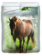 When You Dream Of Horses Duvet Cover