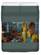Where Do We Come From What Are We Where Are We Going 1897 Duvet Cover