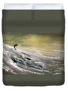 Where Dolphins Play Duvet Cover