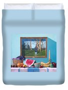 Where Fruit Of Life Lies Within Duvet Cover