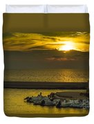 Where The Boats Are Sleeping Duvet Cover