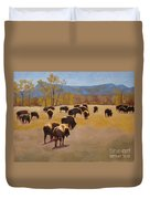 Where The Buffalo Roam Duvet Cover