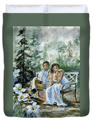 Where The Grass Is Green Duvet Cover
