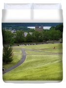 Where The Paths Cross Cornell University Ithaca New York Duvet Cover