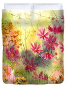 Where The Pink Flowers Grow Duvet Cover
