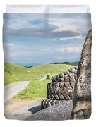 Where The Rubber Meets The Road Duvet Cover