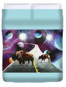 Where The Space Buffalo Roam II Duvet Cover