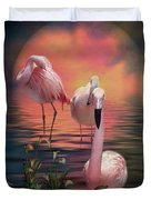 Where The Wild Flamingo Grow Duvet Cover