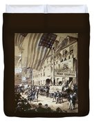 Whig Party Parade, 1840 Duvet Cover