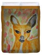Whimsical Autumn Doe Duvet Cover