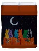 Whimsical Cats Duvet Cover