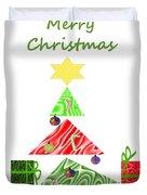 Whimsical Christmas Tree Duvet Cover
