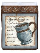 Whimsical Coffee 1 Duvet Cover