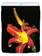 Whimsical Daylily Duvet Cover