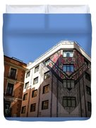 Whimsical Madrid - A Building Draped In Traditional Spanish Mantilla Duvet Cover