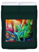 Whimsical Mood-landscape And Fields Duvet Cover