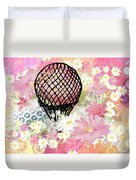 Whimsical Musing High In The Air Pink Duvet Cover