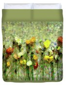 Whimsical Poppies On The Wall Duvet Cover