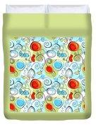 Whimsical Seamless Pattern Duvet Cover