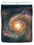 Whirlpool Galaxy  Duvet Cover by Jennifer Rondinelli Reilly - Fine Art Photography