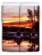 Whiskey At Sunrise Duvet Cover
