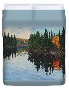 Whiskey Jack Bay Duvet Cover by Phil Chadwick