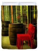 Whiskey Row Duvet Cover