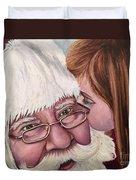 Whispered Wishes Santa  Duvet Cover
