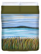 Whispering Grass Duvet Cover