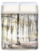Whispering Woodland In Autumn Fall Duvet Cover
